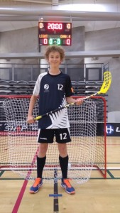 James Matheson NZ Men's Floorball Team 2016