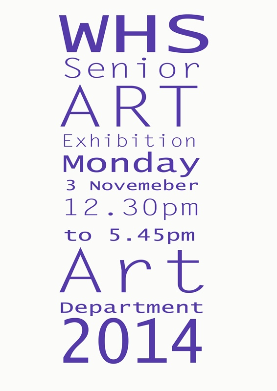 Senior Art Exhibition - 3 November 2014 (Resized)